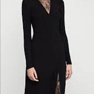 BCBG Black dress with lace detail Sz Large